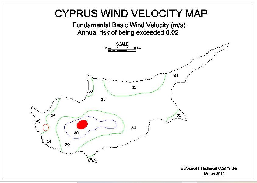 Κύπρος-Χάρτης-ανεμοπιέσεων
