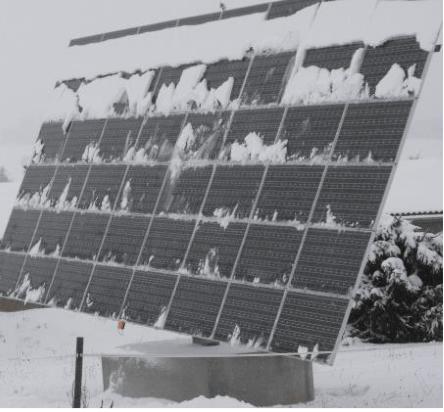 φωτοβολταϊκό πάνελ χιόνι